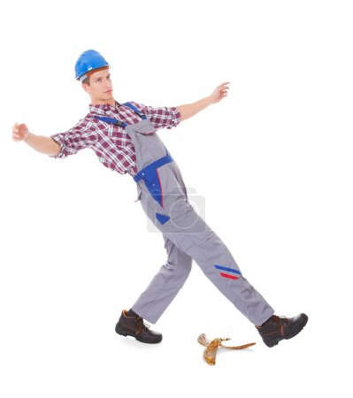 Worker About To Fall