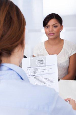 Businesswoman Interviewing
