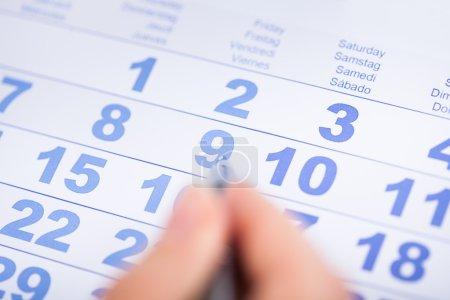 Businessperson With Calendar