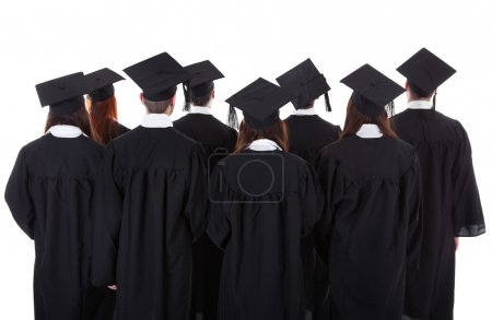 Large group of students graduating