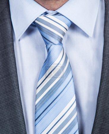 Businessman Striped Necktie