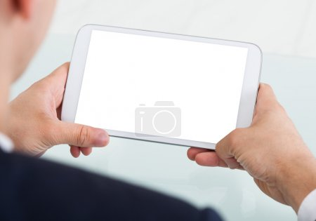 Businessman with Digital Tablet