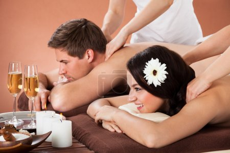 Relaxed Couple At Spa
