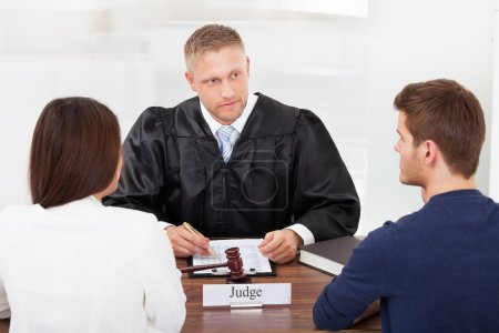 Couple With Judge In Court
