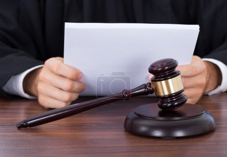 Judge Reading Documents