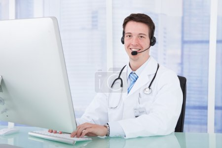 Doctor Wearing Headset