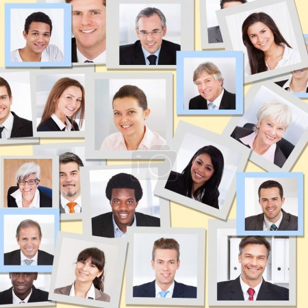 Collage Of Business People Smiling