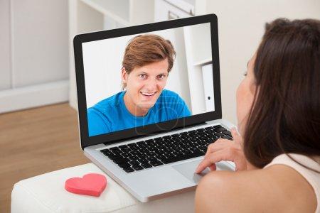 Woman  Chatting With Boyfriend