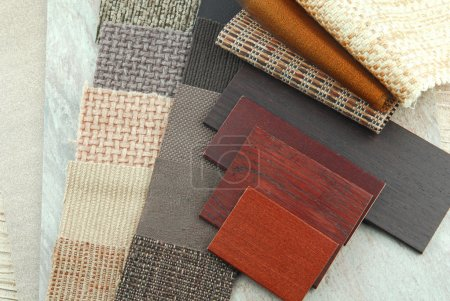 Upholstery and color wood samples
