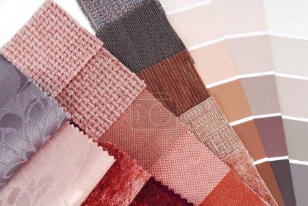 Photo pour Tapisserie d'ameublement et sélection de couleurs de rideau pour l'intérieur - image libre de droit