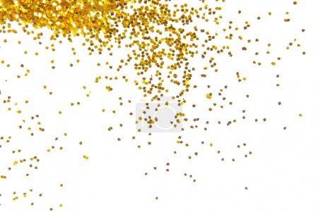 Photo for Golden glitter frame background - Royalty Free Image