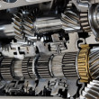 Automotive transmission gearbox with lots of detai...