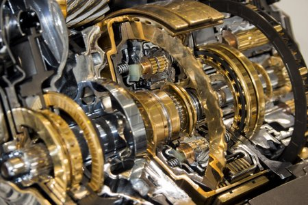 Photo for Automotive transmission gearbox with lots of details - Royalty Free Image