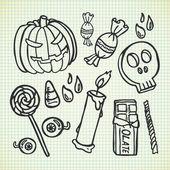 Halloween stuff doodle