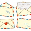 Set of mail in doodle style...