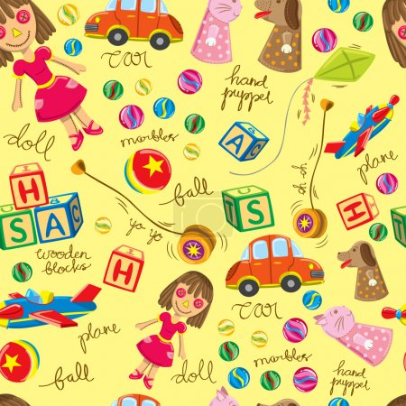 Cute vintage toys background