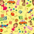 Cute vintage toys background, suitable for wrappin...