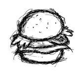 Sketchy hamburger
