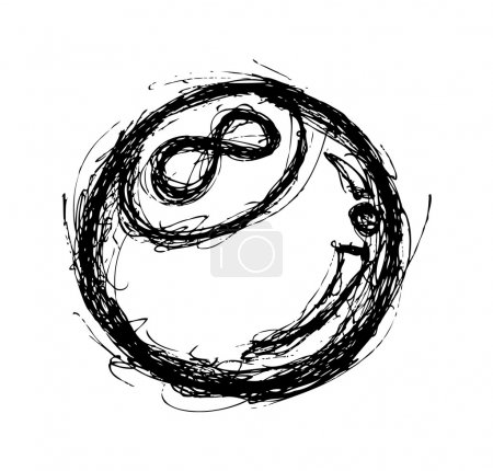 Eight ball doodle