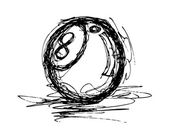 Eight ball doodle