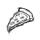 Hand drawn pizza slice
