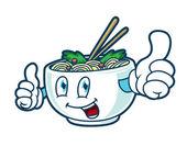 Cartoon noodle bowl