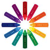 Color wheel crayon