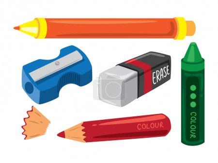 Set of school equipment...