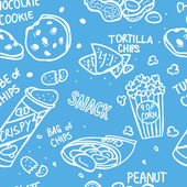 Snack doodle seamless pattern