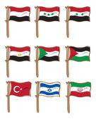 Set of flag icon