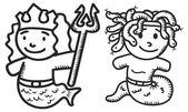 Greek mythology cartoon