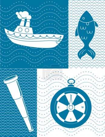 Nautical theme illustration