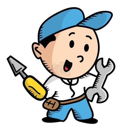 Illustration for Repairman cartoon - Royalty Free Image