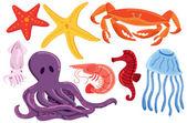 Set of sea animal