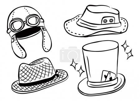 Set of hat doodle