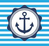 Vintage anchor emblem