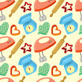 Baking equipment seamless background