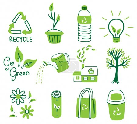 Illustration for Go green concept icon - Royalty Free Image