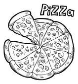 Sketchy pizza illustration