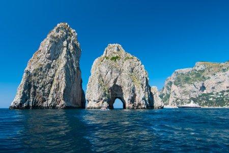 Capri's Faraglioni stacks