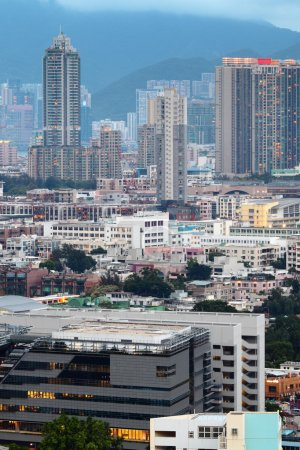 Photo for Crowded building in Hong Kong - Royalty Free Image