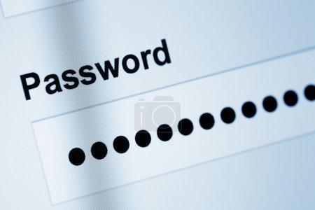 Password on screen