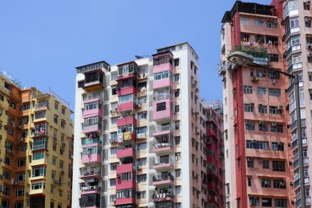 Old apartments building in Hong Kong