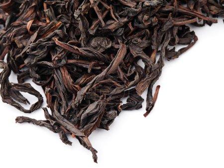 Chinese black tea isolated on white background