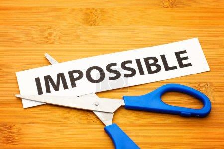 Photo pour Impossible devient possible - image libre de droit