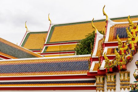 Temple Roof Tile Pattern in Thailand