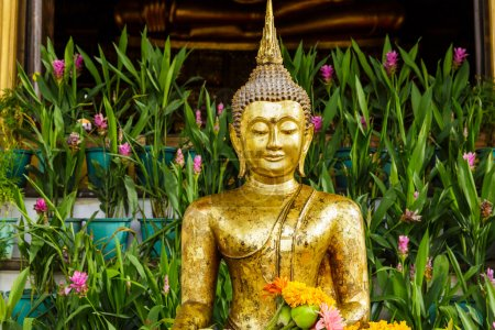Photo for Golden buddha statue in temple - Royalty Free Image