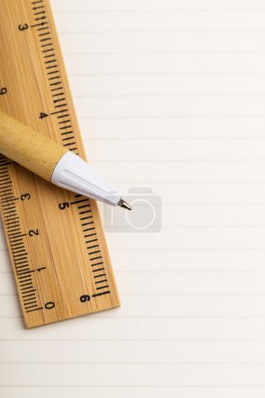 Stationery on the single paper paper