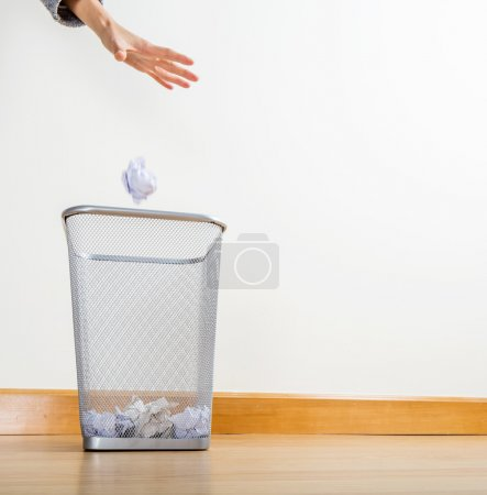Throwing of paper ball