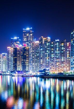Photo pour Busan la nuit - image libre de droit